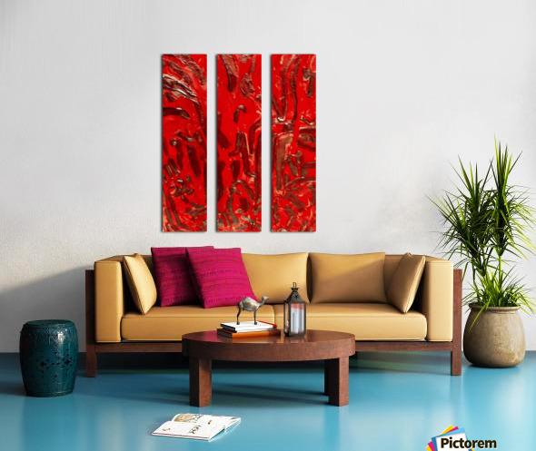 Covid strain.5137 Split Canvas print