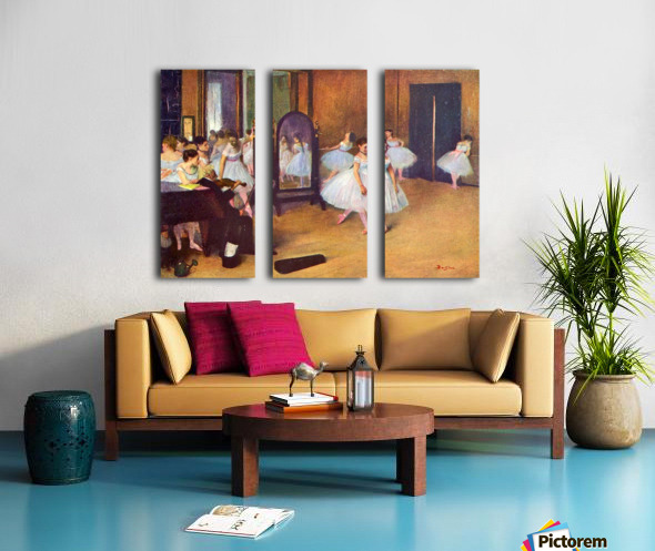 The dance hall by Degas Split Canvas print