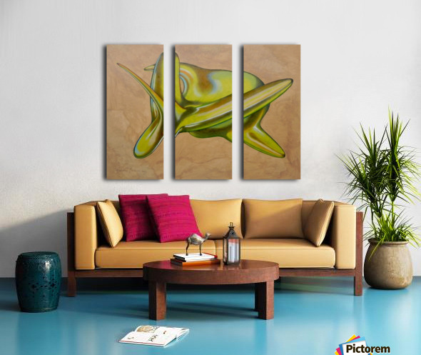 green aerofish Split Canvas print