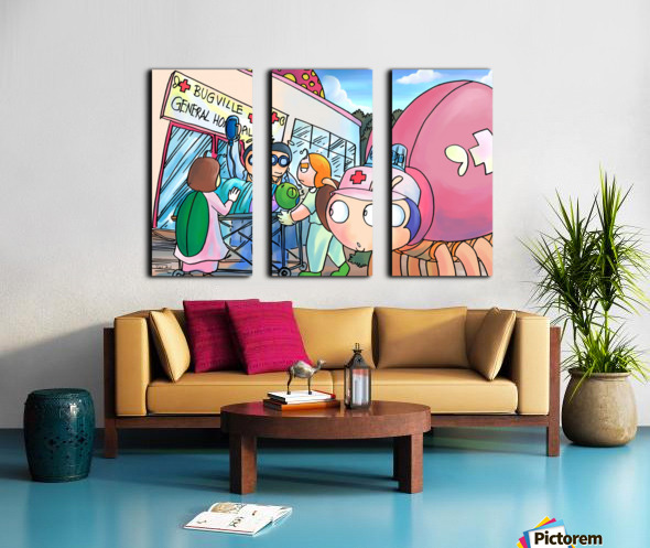 At the General Hospital - Places in Bugville Collection 4 of 4 Split Canvas print