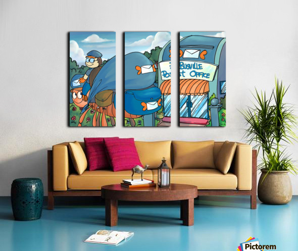 At the Post Office - Places in Bugville Collection 1 of 4 Split Canvas print