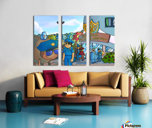 At the Police Department - Places in Bugville Collection 3 of 4 Split Canvas print