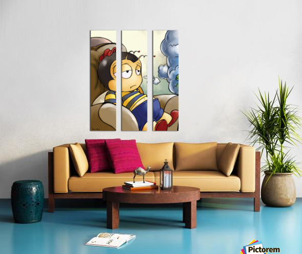 Exhausted - Thoughts on a Long Day - Buster Bee Split Canvas print