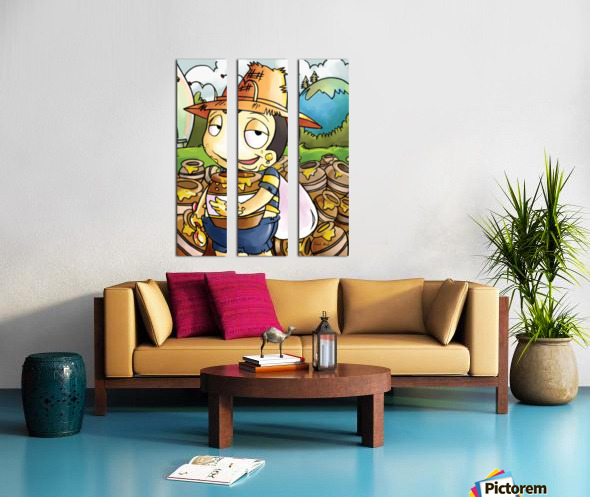 Honey Trouble for  Buster Bee Split Canvas print