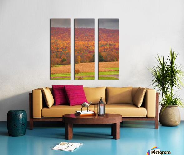 Painted Fall In The Mountains Split Canvas print