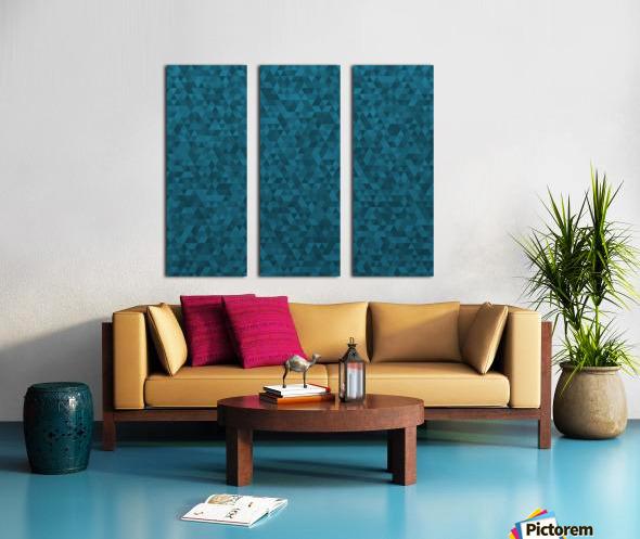 Dark Blue Glitter Pattern Split Canvas print