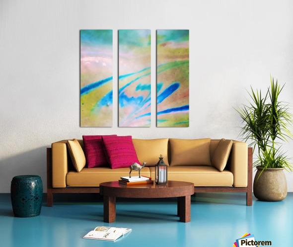 Pierce Anderson Swirls Split Canvas print