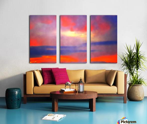 Orange Clouds Split Canvas print