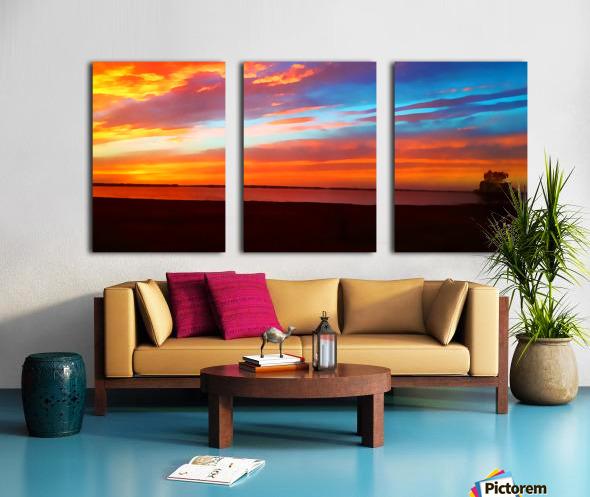Lake Sky Split Canvas print