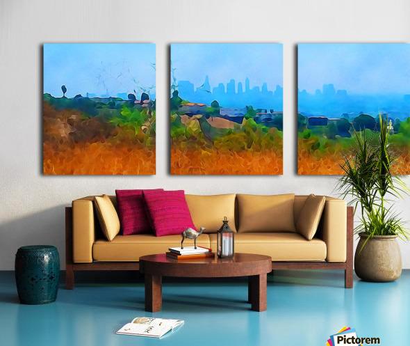los angeles skyline art Split Canvas print