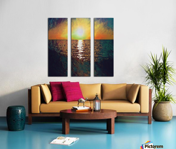 sunset art Split Canvas print
