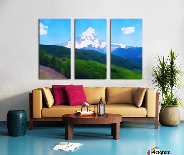 Mt. Ranier Split Canvas print