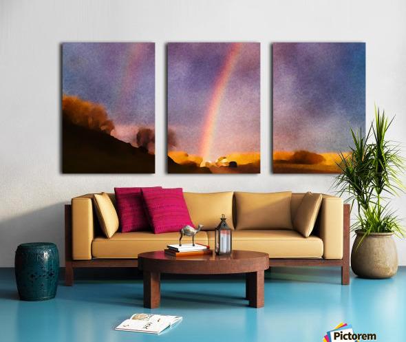 double rainbow Split Canvas print