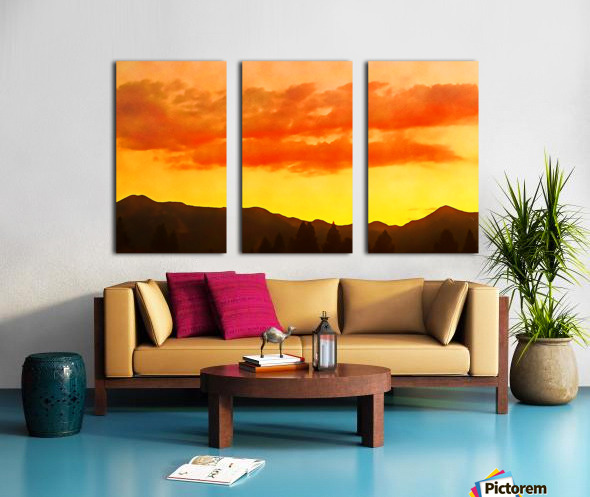 california sky Split Canvas print