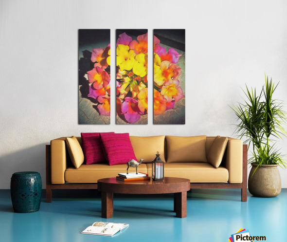 flowers art Split Canvas print