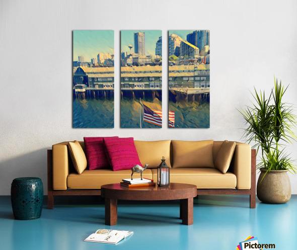 seattle skyline Split Canvas print