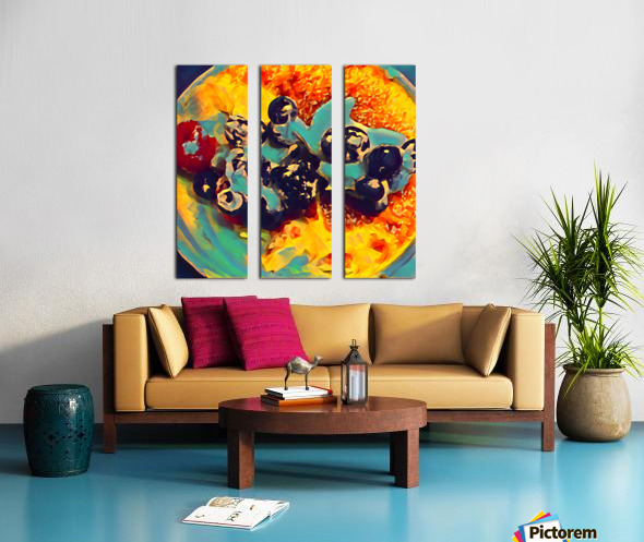 creme brulee food art 2 Split Canvas print
