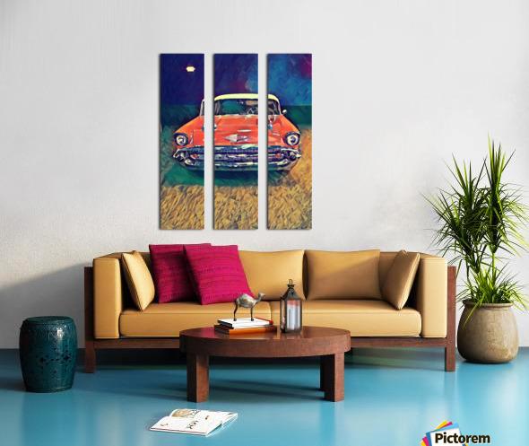 57 chevy car art Split Canvas print