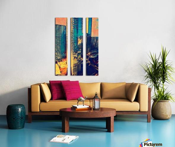 las vegas reflections Split Canvas print