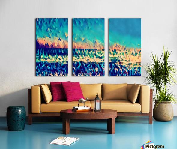 abstract blue sky ocean Split Canvas print