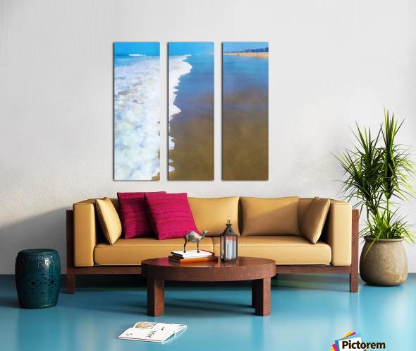 manhattan beach watercolor Split Canvas print