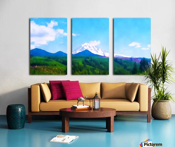 mt ranier clouds Split Canvas print