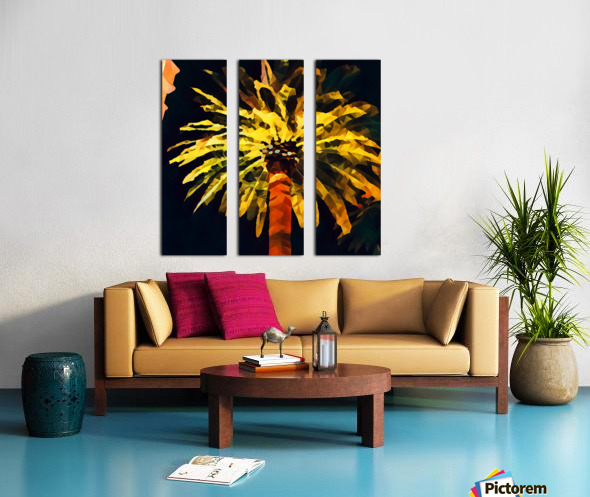 las vegas palm tree at night Split Canvas print