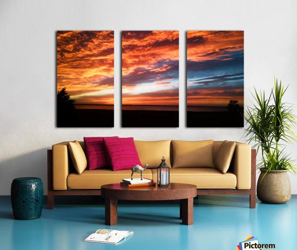 majestic sky Split Canvas print