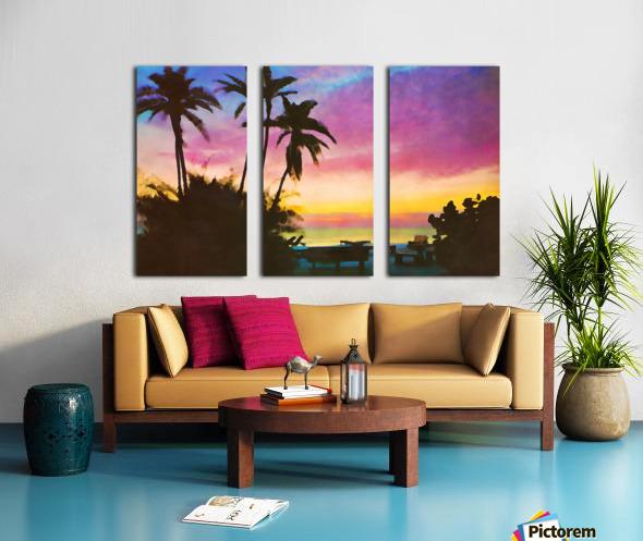 gulf of mexico sunset art Split Canvas print