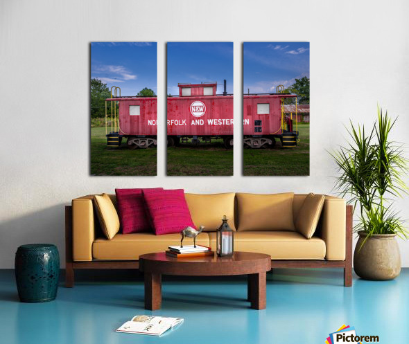 Norfolk & Western Caboose Split Canvas print