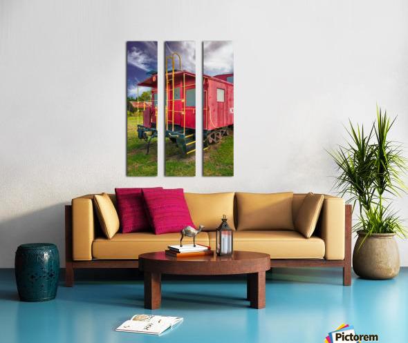 Caboose Split Canvas print