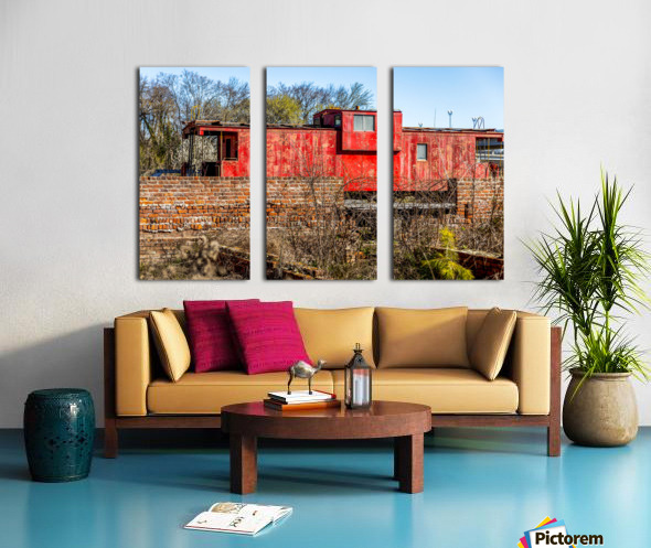 Rail Car in Petersburg VA Split Canvas print
