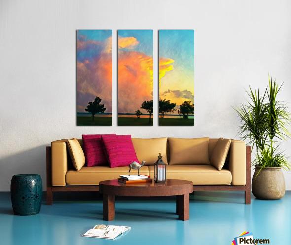 thunder cloud Split Canvas print