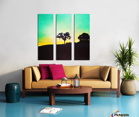 hill tree Split Canvas print