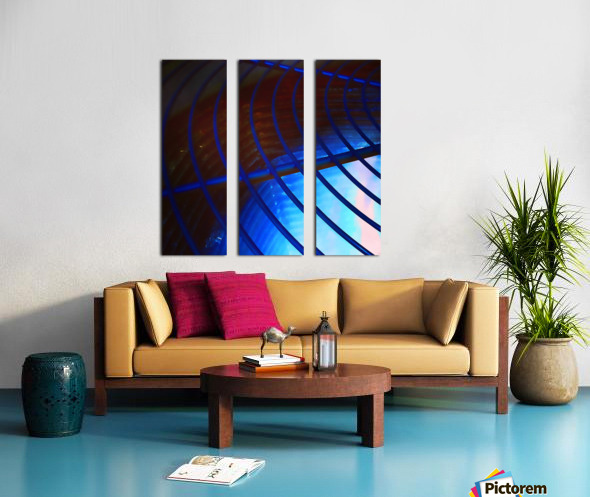 abstract blue curved lines Split Canvas print