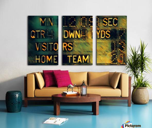 Football Scoreboard Art Split Canvas print