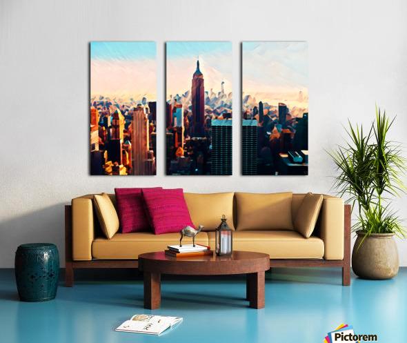 new york city skyline Split Canvas print