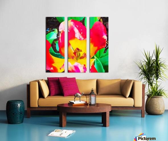 heart flower Split Canvas print