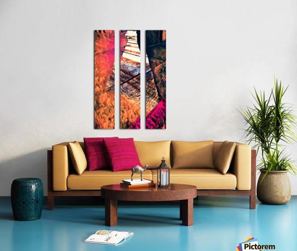 kitchen tiles morning greeting Split Canvas print