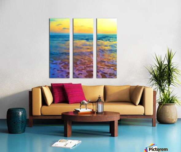 Yellow Sky at Manhattan Beach Split Canvas print