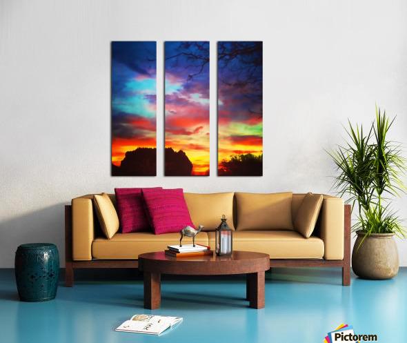 Bounty of Color Split Canvas print