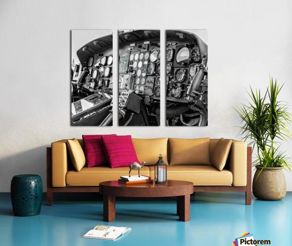 Helicopter Cockpit Split Canvas print