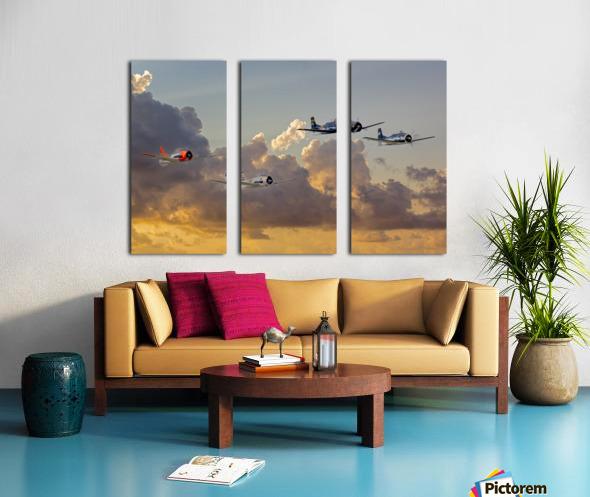 Four T 28 Trainers Split Canvas print