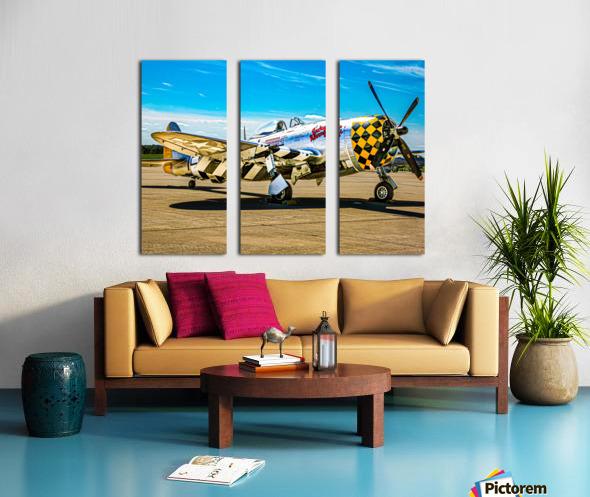 P 47D Thunderbolt Split Canvas print