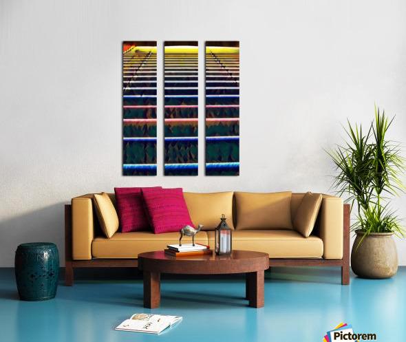 Window Blinds Split Canvas print