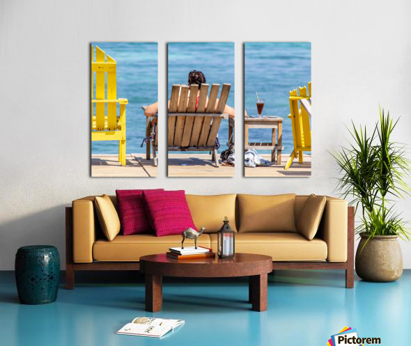 Ambergris Caye 4 Split Canvas print