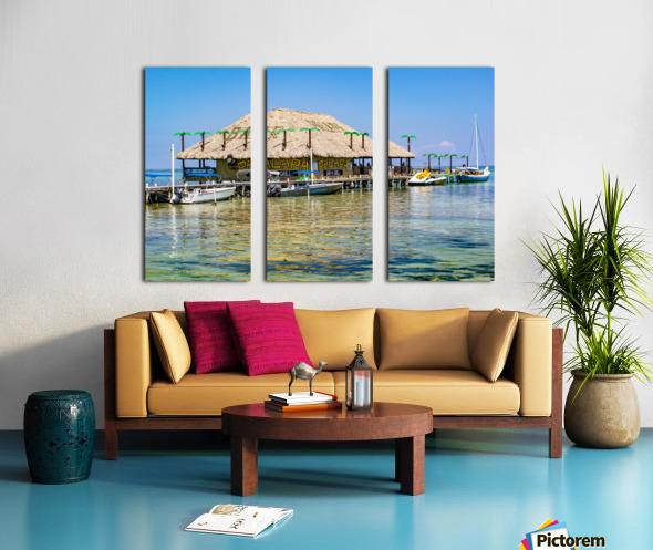 Ambergris Caye 3 Split Canvas print