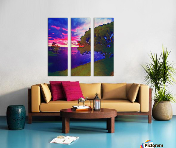 summer evening Split Canvas print