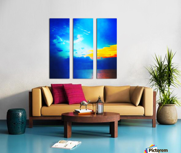 blue yellow magic Split Canvas print