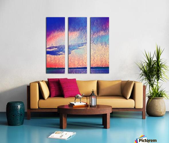 Pink Purple & Peach Split Canvas print